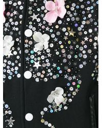 Night Market - Black Floral Print Bomber Jacket - Lyst