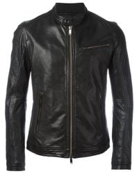 Dondup | Black Banded Collar Jacket for Men | Lyst