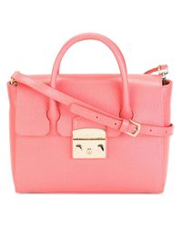 Furla | Pink - Small Metropolis Tote - Women - Leather - One Size | Lyst