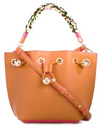 Sophia Webster | Brown Romy Mini Leather Bucket Bag | Lyst