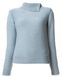 A.P.C. | Blue - Anouk Jumper - Women - Cotton/merino - M | Lyst
