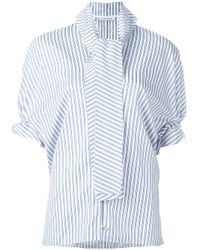 J.W. Anderson | White Rouched Sleeve Blouse | Lyst