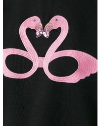 Giamba | Black Flamingo Print Sleeveless Sweatshirt | Lyst