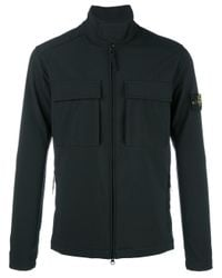 Stone Island | Black Cargo Pocket Zip Jacket for Men | Lyst