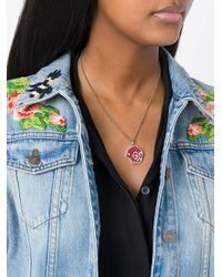 Gucci - Metallic Ghost Skull Charm Necklace - Lyst