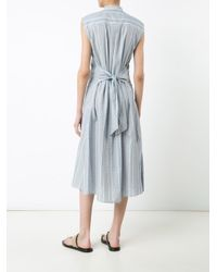 Sea - Blue Striped Buttoned Dress - Lyst