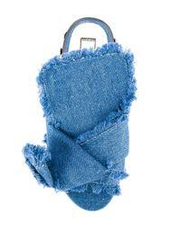 N°21 - Blue Denim Mule Sandals - Lyst