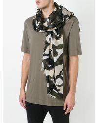 Valentino - Multicolor Garavani Camouflage Scarf for Men - Lyst