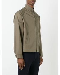 Maison Margiela - Green Stand Up Collar Jacket for Men - Lyst