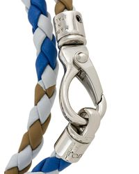 Tod's - White Interlaced Leather Bracelet for Men - Lyst