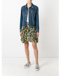 MSGM - Multicolor Checked Ruffled Detail Skirt - Lyst