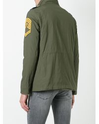 History Repeats - Green Multi Patch Bomber Jacket for Men - Lyst