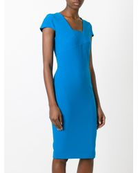 Roland Mouret - Blue Fitted Dress - Lyst