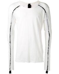Thom Krom | White Contrast Detail T-shirt for Men | Lyst