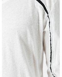 Thom Krom - White Contrast Detail T-shirt for Men - Lyst