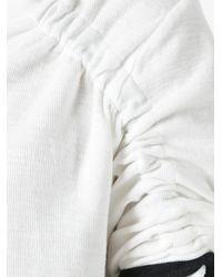 Thom Krom - White Strap Detail T-shirt for Men - Lyst