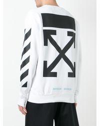 Off-White c/o Virgil Abloh | White Caravaggio Print Sweatshirt for Men | Lyst