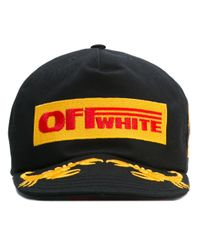 Off-White c/o Virgil Abloh | Black Logo Patch Cap for Men | Lyst
