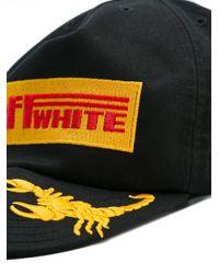 Off-White c/o Virgil Abloh - Black Logo Patch Cap for Men - Lyst