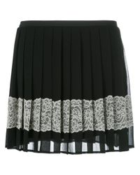 RED Valentino | Black Embellished Crepe Mini Skirt | Lyst