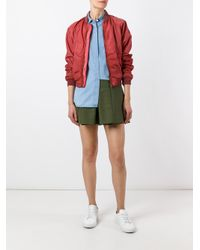 Tomas Maier - Red Classic Bomber Jacket - Lyst