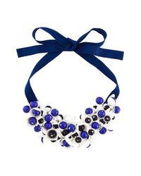 P.A.R.O.S.H. | Blue Floral Motif Short Necklace | Lyst