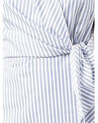 J.W.Anderson - White Sleeveless Stripe Dress - Lyst