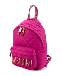 Moschino | Pink Quilted Mini Backpack | Lyst