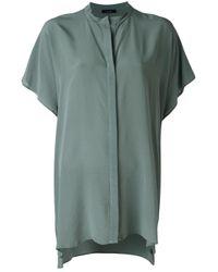 Roberto Collina | Green Boxy Shirt | Lyst
