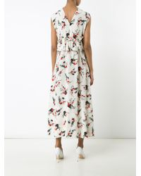 Marni | White Printed Ruffle Dress | Lyst