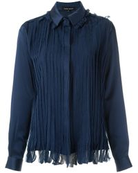 Gloria Coelho - Blue Pleated Shirt - Lyst