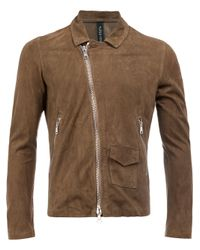 Giorgio Brato | Brown Slim-fit Biker Jacket for Men | Lyst