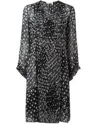 See By Chloé   Black Floral Print Shift Dress   Lyst