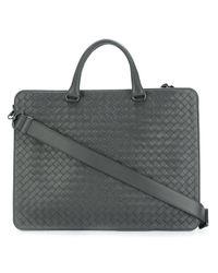 Bottega Veneta | Gray Woven Briefcase for Men | Lyst