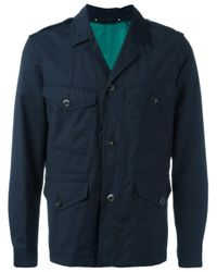Paul Smith | Blue Military Jacket for Men | Lyst