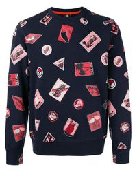 Paul Smith | Blue Embroidered Patch Sweatshirt for Men | Lyst