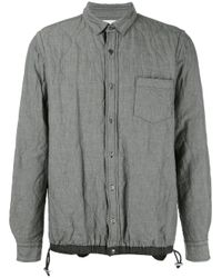 Sacai | Gray Quilted Shirt Jacket for Men | Lyst