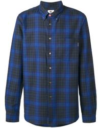PS by Paul Smith - Blue Plaid Shirt for Men - Lyst