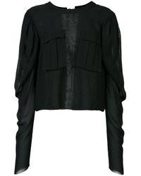 Vera Wang | Black Tie Back Top | Lyst