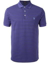 Polo Ralph Lauren - Blue Striped Polo Shirt for Men - Lyst
