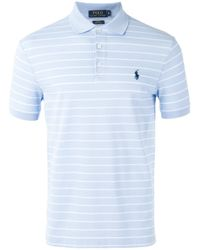 Polo Ralph Lauren | Blue - Striped Polo Shirt - Men - Cotton/spandex/elastane - S for Men | Lyst