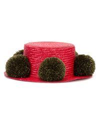 Eshvi | Red - Jupiter Hat - Women - Wool/straw - S | Lyst