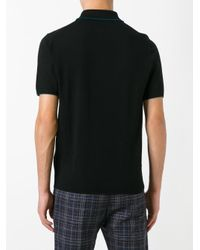 PS by Paul Smith - Black Knitted Polo Shirt for Men - Lyst