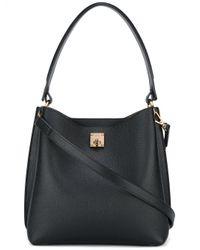 MCM | Black Flip Lock Shoulder Bag | Lyst