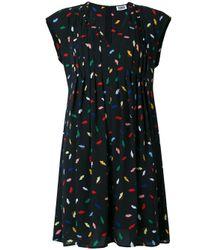 Sonia by Sonia Rykiel | Black Printed V-neck Dress | Lyst
