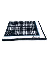 Brioni - Blue - Checked Towel - Men - Cotton - One Size - Lyst