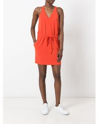 Boutique Moschino - Red Drawstring Dress - Lyst