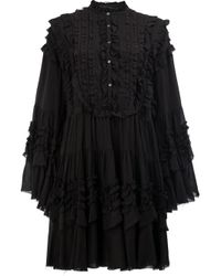 Faith Connexion | Black Tiered Ruffle Trim Dress | Lyst