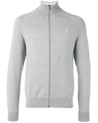 Polo Ralph Lauren | Gray Roll Neck Cardigan for Men | Lyst
