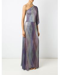 Cecilia Prado - Purple One Shoulder Knit Dress - Lyst